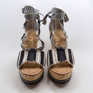6f5e6d2722b16c Sam Edelman Shoes - Sam Edelman TREY Black White Beaded Wedge 8.5M
